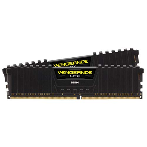 Corsair Vengeance LPX 16GB (2 X 8GB) DDR4 3600 (PC4-28800) C18 1.35V Desktop Memory - Black (CMK16GX4M2D3600C18)
