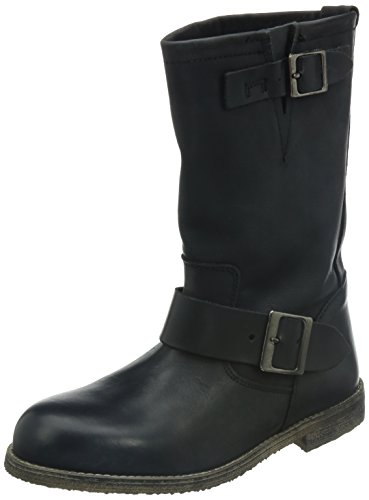 Buffalo London Damen 13980 WASHED LEATHER Biker Boots, Schwarz (BLACK 01), 38 EU