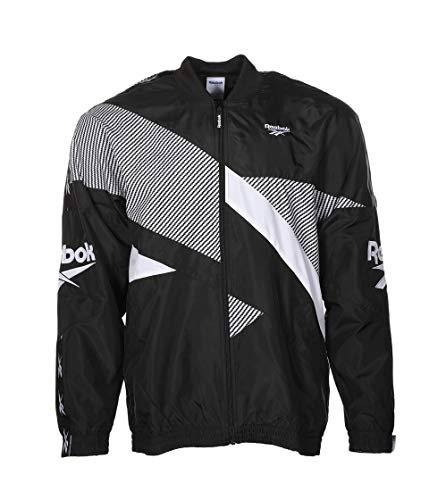 Reebok Klassische Herrenjacke von Vector, Herren, Jacke, Classic Vector Jacket, schwarz, Small