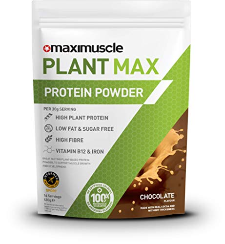Maximuscle Plant Max Protein Powder, Chocolate Flavour, 480 g