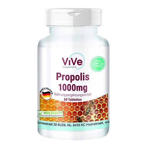 Propolis 1000mg - 60 Tabletten - Hochdosiert - Hergestellt in Deutschland