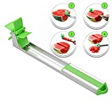GooKit Melon Stainless Steel Watermelon Slicer Cutter Knife Melon and Cantaloupe Fruit Slicer Fruit V