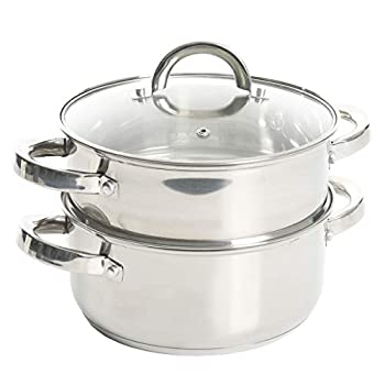Oster Dutch Oven w/Steamer Basket Stainless Steel Cookware 3.0-Quart