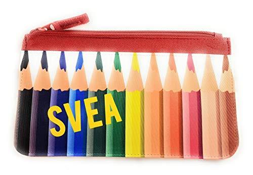 Mäppchen mit Motiv Buntstiften I Schlampermäppchen mit Namen personalisiert