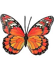 UPKOCH Metalen vlinder wanddecoratie 40 cm 3D muurkunst woonkamer wanddecoratie glas wandversiering balkon terras decoratie hanger ijzer tuindecoratie figuren dieren tuin decoratie willekeurige kleur