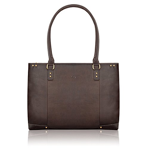Solo New York Jay Leather Laptop Tote, Espresso
