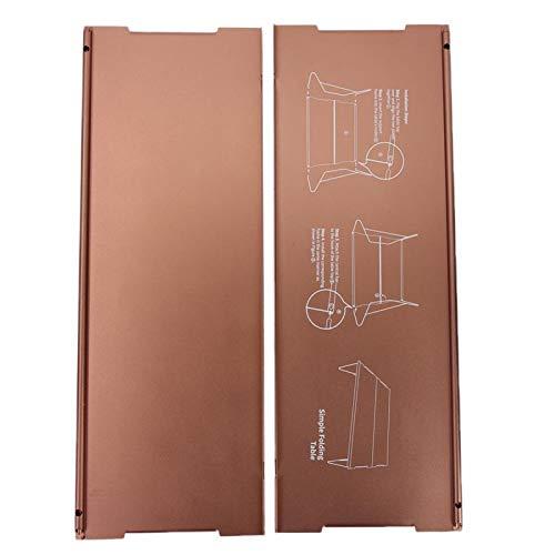 SALUTUYA Práctica Mesa Plegable de aleación de Aluminio, Mesa Plegable para Exteriores, Antideslizante, portátil, para Senderismo, Adecuada para Parques