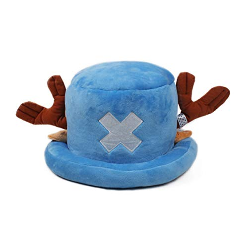 One Piece Tony Chopper Kostüm Hut Gr. Einheitsgröße, Blau B