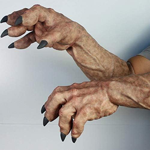 Horror-Geistertatzen-Parodie der lustigen Handschuhe Halloweens, Bildfarbe