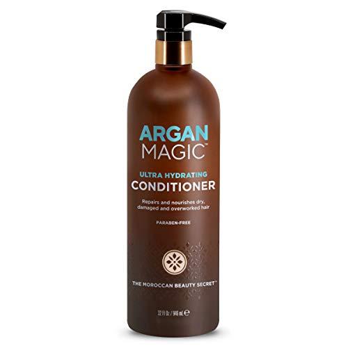 Argan Magic Revitalisant ultra hydratant pour cheveux secs et abîmés - Répare et protège | Sans danger pour les cheveux colorés et traités chimiquement | Sans paraben (32 onces / 946 millilitres)