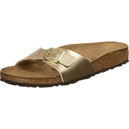 Madrid Women Slip on Shoe Birko Flor Gold