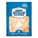 Best Bully Sticks Prime Thick-Cut Cow Ear Dog Chews (12 Pack) Sourced from All Natural, Free Range Grass Fed Cattle with No Hormones, Additives or Chemicals - Hand-Inspected