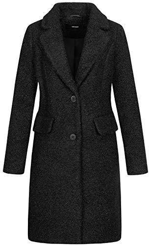 VERO MODA Damen Wollmantel Cozydiana Kurz-Mantel mit Kragen 10221168 Black S