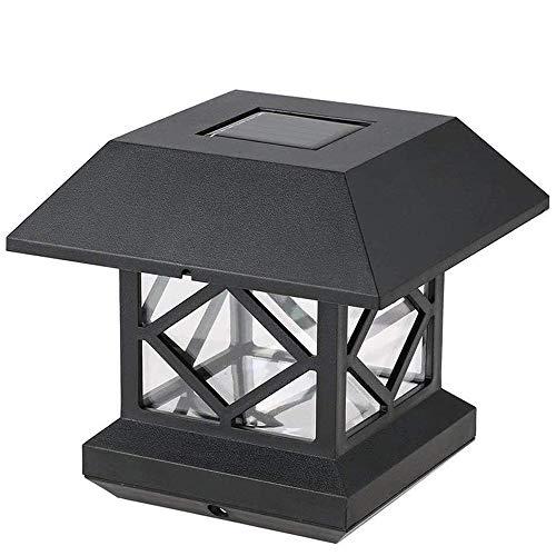 YDBET Solar Light Garten Zaun-Pfosten Cap Lichter Outdoor LED elektronische Auto-Sensor-Lampe IP55 wasserdicht für Außen Yard Garden Road