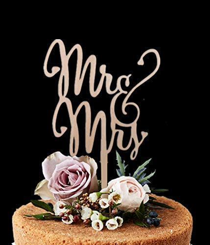 Cake Toppers Wedding Cakes Mr Mrs Rustic Wood Cake Topper Wooden Birthday Cake Topper, Wedding Reception,Wedding Cake Decoration(WORD)