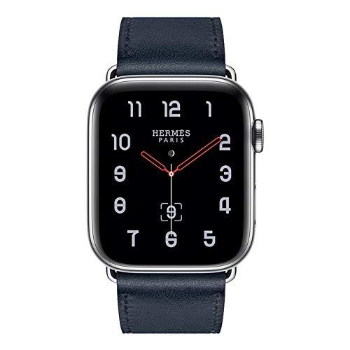 Compatible con la Banda de Reloj de Cuero de reemplazo 38mm 42mm 40mm Serie Multicolor de 44 mm (Band Color : Dark Blue)