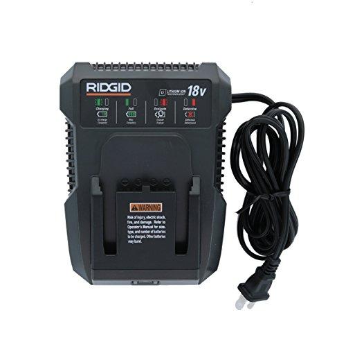 Ridgid Genuine OEM R86092 Dual Chemistry 18V Lithium Ion / NiCad Battery Charger