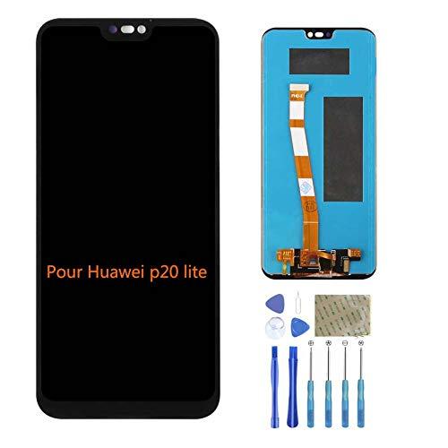 ASNNY Display Compatibile per Huawei P20 Lite Nero, LCD Assembly Digitizer Schermo per HHuawei P20 Lite con Kit di Riparazione Completo Kit Nero