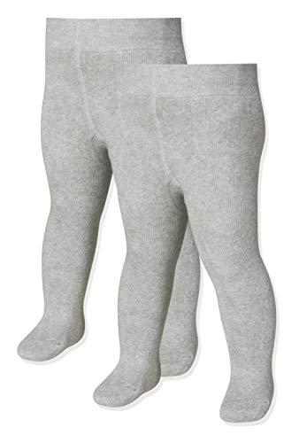 Playshoes Kinder-Unisex Thermo Uni Doppelpack Strumpfhose, Grau/Melange, 50/56