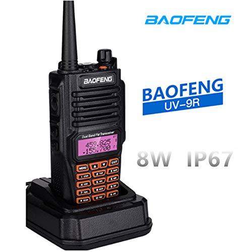 radtel Baofeng UV-9R Plus 8Watts Walkie Talkie BF-UV9R Plus IP67 Waterproof Dual Band Ham Radio 8W