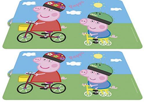 Juego de 2 manteles individuales de Peppa Pig para colorear, amasar y comer.