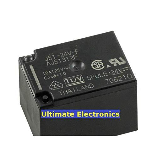 ZTSHBK 5 Piezas JS1-24V-F AJS1312F relé de Potencia de 5 Pines / 10A / 24 V/Interruptor