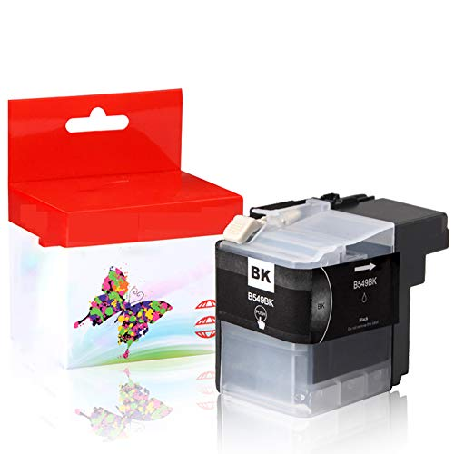 GYBN Volumen de Tinta Cartucho de Impresora de Gran Capacidad Color Negro, para Hermano LC549 Cartucho de Tinta LC545 dcp-j100 Cartucho de Tinta DCP-J105 MFC-J200 Cartucho de Tinta-Black