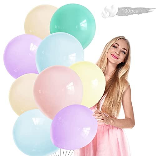 Ballon Mariage,100 Pièces Guirlande de ballons de baudruche,Ballons Pastel,Macaron Ballon,Macaron Ballon Couleur,pour mariage fête d'anniversaire décorations