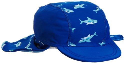 Playshoes Jungen Mütze UV-Schutz Bademütze Hai - Blau (original) , Medium (Herstellergröße : 51 cm)