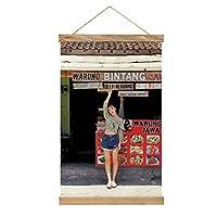 現代絵画キャンバス絵画 藤田ニコル ポスター壁アート画像リビングルームベッドルーム現代家の装飾木製フレーム34 * 52cm