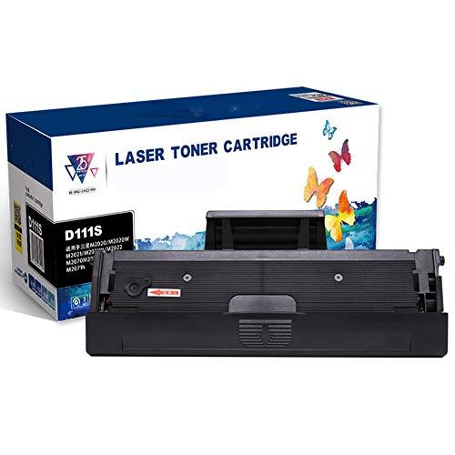 GBY Cartucho de tóner, Cartucho de Impresora, Adecuado para Polvo de fácil adición m2071 Cartucho de tóner m2070f m2070W m2070FW m2022w MLT-D111S m2071fh Cartucho m2021w Cartucho de Impresora m2020