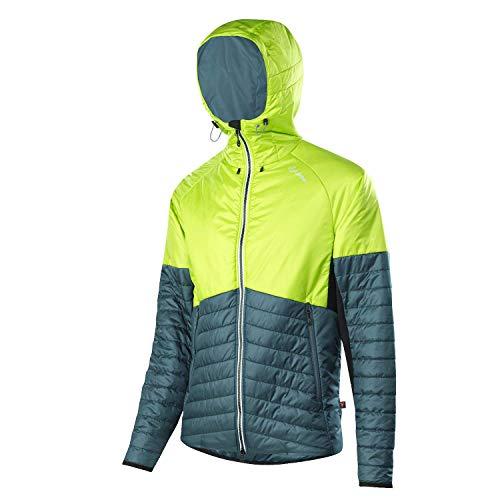 LÖFFLER M Veste à capuche Primaloft 100 Bleu Vert Veste isolante Homme Primaloft Taille 50 - Couleur Lime