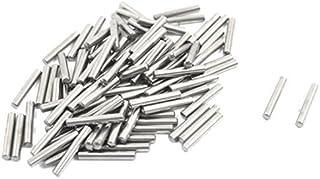 100 Pcs 2 mm x 13 mm en paralelo Pasadores Fasten Elementos tono de Plata