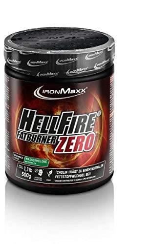 IronMaxx Hellfire Fatburner ZERO Powder - Dose - Wassermelone, 500 g