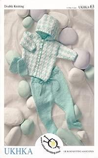 UKHKA/63 | Jacquard Hooded Pram Set Baby Double Knitting Pattern