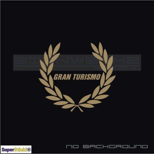 SUPERSTICKI Gran Turismo Ehrenkranz ca 20cm Aufkleber,Autoaufkleber,Sticker,Decal,Wandtattoo, aus Hochleistungsfolie,UV&waschanlagenfest,