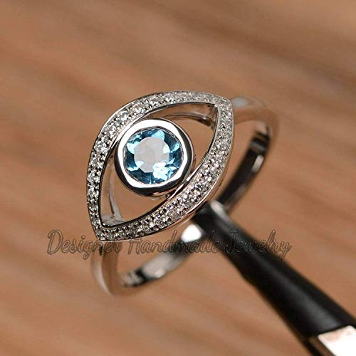 925 Sterling Silver Gift Artisan Ring Designer Turquoise Ring Turquoise Ring Blue Gemstone Ring Gift for Sister