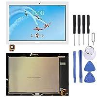GzPuluz スマホ修理パーツ Lenovo Tab 4 Plus TBX704用LCDスクリーンおよびデジタイザーフルアセンブリTBX704L (色 : 白)