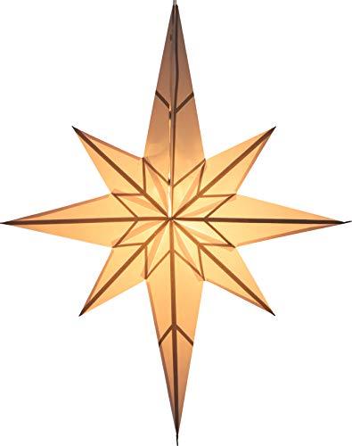 Guru-Shop Faltbarer Advents Leucht Papierstern, Weihnachtsstern 70 cm - Zerberus, Star Fensterdeko, 5 Spitzen