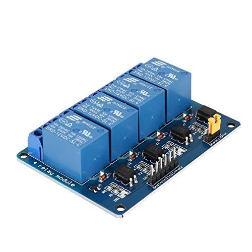 KoelrMsd Optoacoplador de Disparador de bajo Nivel de Placa de Interfaz de módulo de relé de 4 Canales de 12 V para Interruptor de Control Remoto de hogar Inteligente SCM PLC