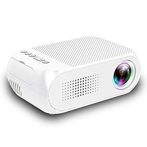 ASHATA, mini-projector, LED-draagbare videoprojector, HD 1080p, 600 lumen, USB/TF/HDMI/AV-ondersteuning, U-disc-geheugenkaart, thuisbioscoop, filmprojector