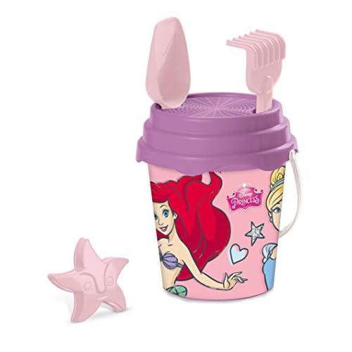 Mondo Toys Disney Princess Bucket Set, Set Mare Renew Toys con Secchiello, Paletta, Rastrello, Setaccio, Formina, Annaffiatoio Inclusi, 28415
