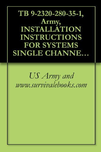 TB 9-2320-280-35-1, Army, INSTALLATION INSTRUCTIONS FOR SYSTEMS SINGLE CHANNEL GROUND AND AIRBORNE RADIO SYSTEM (SINCGARS), AN/VRC-88F, AN/VRC-89F, AN/VRC-90F, ... (2320-01-371-9577), (EIC: BBN); TRUCK, UT