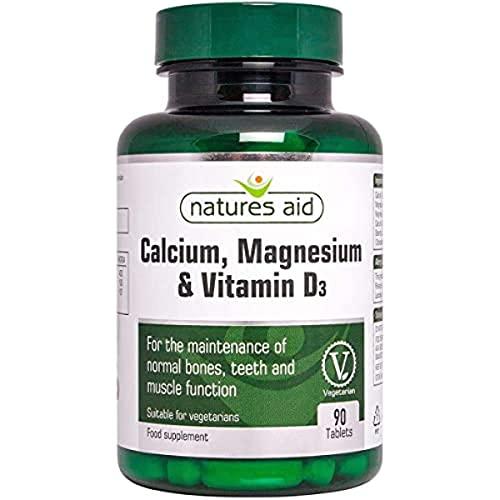Natures Aid Calcium Magnesium and D3, Helps Maintain Normal Bones, Teeth...
