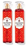 Bath and Body Works - 2 pack - STRAWBERRY POUND CAKE - Fine Fragrance Mist Full Size