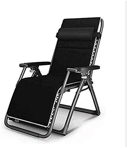 reclinable plegable, silla perezosa de siesta interior con reposabrazos de masaje, sillas de jardín reclinables, reclinables de gravedad cero plegable 0°-166°, ajuste de Sun Loun
