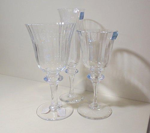 Cristal Sevres Set 18Piezas Rialto F producción (6agua 9H 17cm–Vino 7,4cm H 16cm- floot 5,8H 19,7)...