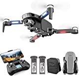 4DF4 RC GPS Drone with 4K Camera for Adults,HD 2-Axis gimbal Anti-shake FPV Live Video,Brushless Motor RC Quadcopter for Beginners, Auto Return, Follow Me,Waypoint Fly,Headless Mode,Carrying Case