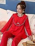 Bedom wallpaper Pijamas de las mujeres de primavera y otoño modelos de algodón puro manga larga rojo novia natal princesa coreana dulce servicio a casa traje L_red