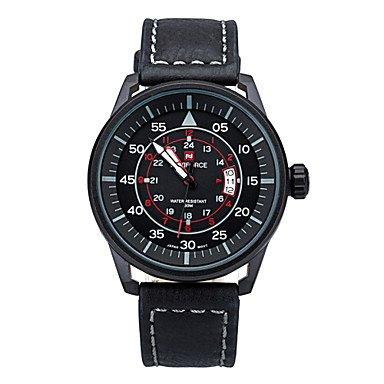 FENKOO 2015 Neue beiläufige Mens Marke Quarzuhren mit Digital Mode Uhr 30 m wasserdicht Herren-Uhr